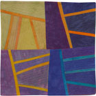 Abstract Contemporary Textile Painting / Art Quilt - Structures #147 ©2013 Lisa Call