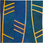 Abstract Contemporary Textile Painting / Art Quilt - Structures #155 ©2013 Lisa Call