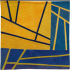 Abstract Contemporary Textile Painting / Art Quilt - Structures #157 ©2013 Lisa Call