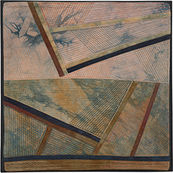 Abstract Contemporary Textile Painting / Art Quilt - Structures #173 ©2016 Lisa Call