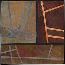 Abstract Contemporary Textile Painting / Art Quilt - Structures #175 ©2016 Lisa Call