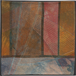 Abstract Contemporary Textile Painting / Art Quilt - Structures #178 ©2016 Lisa Call