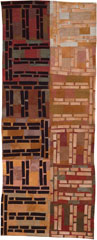 Abstract Contemporary Textile Painting / Art Quilt - Structures #17 ©2003 Lisa Call