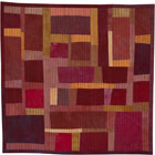 Abstract Contemporary Textile Painting / Art Quilt - Structures #20 ©2003 Lisa Call