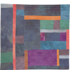 Abstract Contemporary Textile Painting / Art Quilt - Structures #21 ©2005 Lisa Call