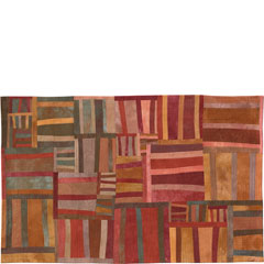 Abstract Contemporary Textile Painting / Art Quilt - Structures #22 ©2003 Lisa Call