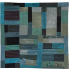 Abstract Contemporary Textile Painting / Art Quilt - Structures #25 ©2003 Lisa Call