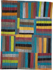 Abstract Contemporary Textile Painting / Art Quilt - Structures #27 ©2004 Lisa Call
