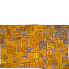 Abstract Contemporary Textile Painting / Art Quilt - Structures #31 ©2004 Lisa Call
