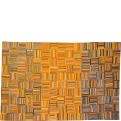 Abstract Contemporary Textile Painting / Art Quilt - Structures #39 ©2005 Lisa Call