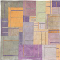 Abstract Contemporary Textile Painting / Art Quilt - Structures #40 ©2005 Lisa Call