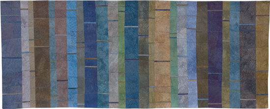 Abstract Contemporary Textile Painting / Art Quilt Structures #42 ©2006 Lisa Call