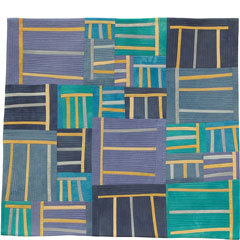 Abstract Contemporary Textile Painting / Art Quilt - Structures #43 ©2005 Lisa Call