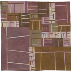 Abstract Contemporary Textile Painting / Art Quilt - Structures #44 ©2005 Lisa Call