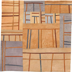 Abstract Contemporary Textile Painting / Art Quilt - Structures #45 ©2005 Lisa Call