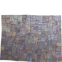 Abstract Contemporary Textile Painting / Art Quilt - Structures #48 ©2007 Lisa Call