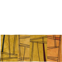 Abstract Contemporary Textile Painting / Art Quilt - Structures #55 ©2006 Lisa Call