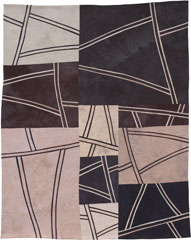 Abstract Contemporary Textile Painting / Art Quilt - Structures #59 ©2006 Lisa Call