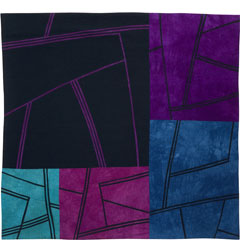 Abstract Contemporary Textile Painting / Art Quilt - Structures #65 ©2007 Lisa Call