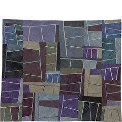 Abstract Contemporary Textile Painting / Art Quilt - Structures #73 ©2009 Lisa Call