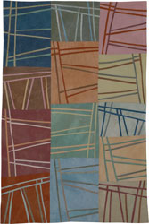 Abstract Contemporary Textile Painting / Art Quilt - Structures #95 ©2008 Lisa Call