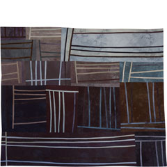 Abstract Contemporary Textile Painting / Art Quilt - Structures #99 ©2008 Lisa Call
