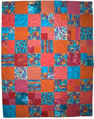Quilt for Katrina Evacuees in Denver &copy 2005 Lisa Call