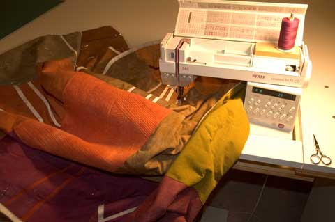 Image of Pfaff 1475 with custom sewing table