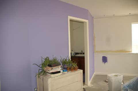Painting my bedroom walls.
