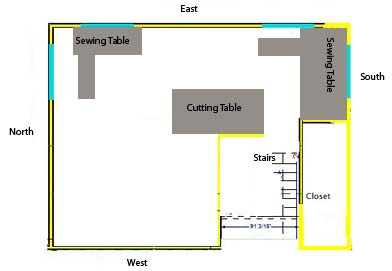 Building a Studio – My Original Floor Plan