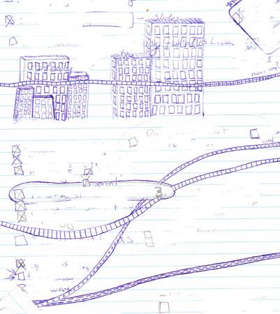 Doodle of New York City ©2011 Lisa Call, Quilt Artist, Denver, Colorado
