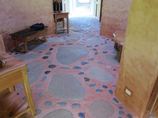 Image of the yoga studio stone floor