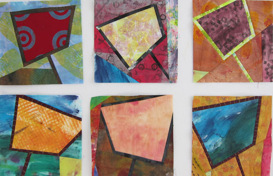 Abstract Contemporary Textile Painting / Art Quilt - Portals in Progress ©2013 Lisa Call