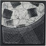 Day 1, Contemporary Textile Painting/ Abstract Modern Art Quilt, 100 Days Project, Artist Lisa Call, Waikanae Beach, Kapiti, New Zealand