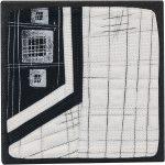 Day 100, Contemporary Textile Painting/ Abstract Modern Art Quilt, 100 Days Project, Artist Lisa Call, Waikanae Beach, Kapiti, New Zealand