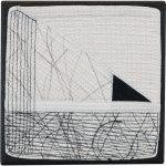 Day 11, Contemporary Textile Painting/ Abstract Modern Art Quilt, 100 Days Project, Artist Lisa Call, Waikanae Beach, Kapiti, New Zealand
