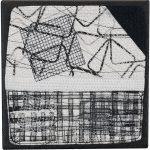 Day 16, Contemporary Textile Painting/ Abstract Modern Art Quilt, 100 Days Project, Artist Lisa Call, Waikanae Beach, Kapiti, New Zealand