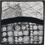 Day 17, Contemporary Textile Painting/ Abstract Modern Art Quilt, 100 Days Project, Artist Lisa Call, Waikanae Beach, Kapiti, New Zealand