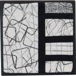 Day 24, Contemporary Textile Painting/ Abstract Modern Art Quilt, 100 Days Project, Artist Lisa Call, Waikanae Beach, Kapiti, New Zealand