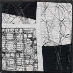 Day 28, Contemporary Textile Painting/ Abstract Modern Art Quilt, 100 Days Project, Artist Lisa Call, Waikanae Beach, Kapiti, New Zealand