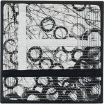 Day 2, Contemporary Textile Painting/ Abstract Modern Art Quilt, 100 Days Project, Artist Lisa Call, Waikanae Beach, Kapiti, New Zealand