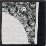 Day 31, Contemporary Textile Painting/ Abstract Modern Art Quilt, 100 Days Project, Artist Lisa Call, Waikanae Beach, Kapiti, New Zealand