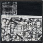 Day 34, Contemporary Textile Painting/ Abstract Modern Art Quilt, 100 Days Project, Artist Lisa Call, Waikanae Beach, Kapiti, New Zealand