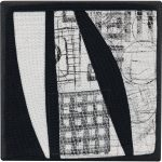 Day 35, Contemporary Textile Painting/ Abstract Modern Art Quilt, 100 Days Project, Artist Lisa Call, Waikanae Beach, Kapiti, New Zealand