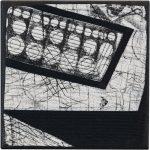 Day 36, Contemporary Textile Painting/ Abstract Modern Art Quilt, 100 Days Project, Artist Lisa Call, Waikanae Beach, Kapiti, New Zealand