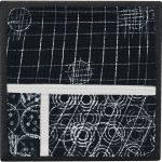 Day 37, Contemporary Textile Painting/ Abstract Modern Art Quilt, 100 Days Project, Artist Lisa Call, Waikanae Beach, Kapiti, New Zealand