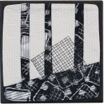 Day 41, Contemporary Textile Painting/ Abstract Modern Art Quilt, 100 Days Project, Artist Lisa Call, Waikanae Beach, Kapiti, New Zealand