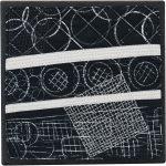 Day 43, Contemporary Textile Painting/ Abstract Modern Art Quilt, 100 Days Project, Artist Lisa Call, Waikanae Beach, Kapiti, New Zealand