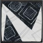 Day 45, Contemporary Textile Painting/ Abstract Modern Art Quilt, 100 Days Project, Artist Lisa Call, Waikanae Beach, Kapiti, New Zealand