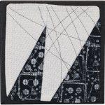 Day 51, Contemporary Textile Painting/ Abstract Modern Art Quilt, 100 Days Project, Artist Lisa Call, Waikanae Beach, Kapiti, New Zealand